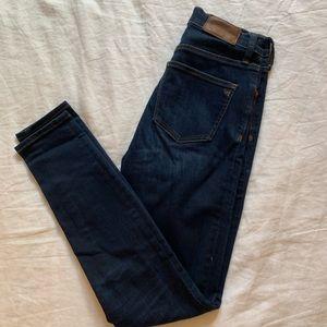 Madewell high rise skinny jean size 25